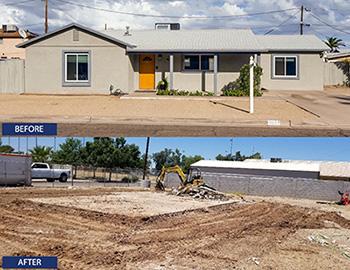 House demolition contractor in Phoenix